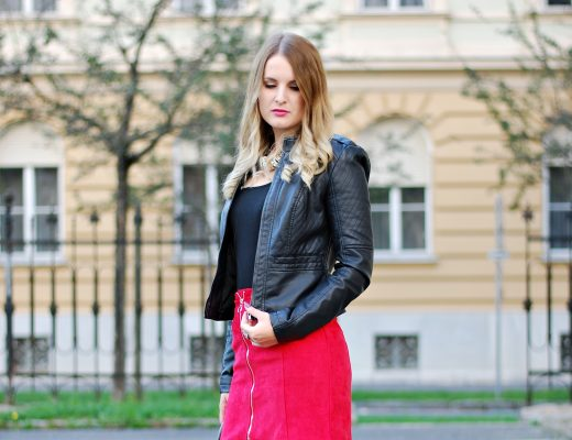 All black and a touch of red - Fashion Look Rock Skirt - Fashionladyloves - Modeblog - Fashionblog