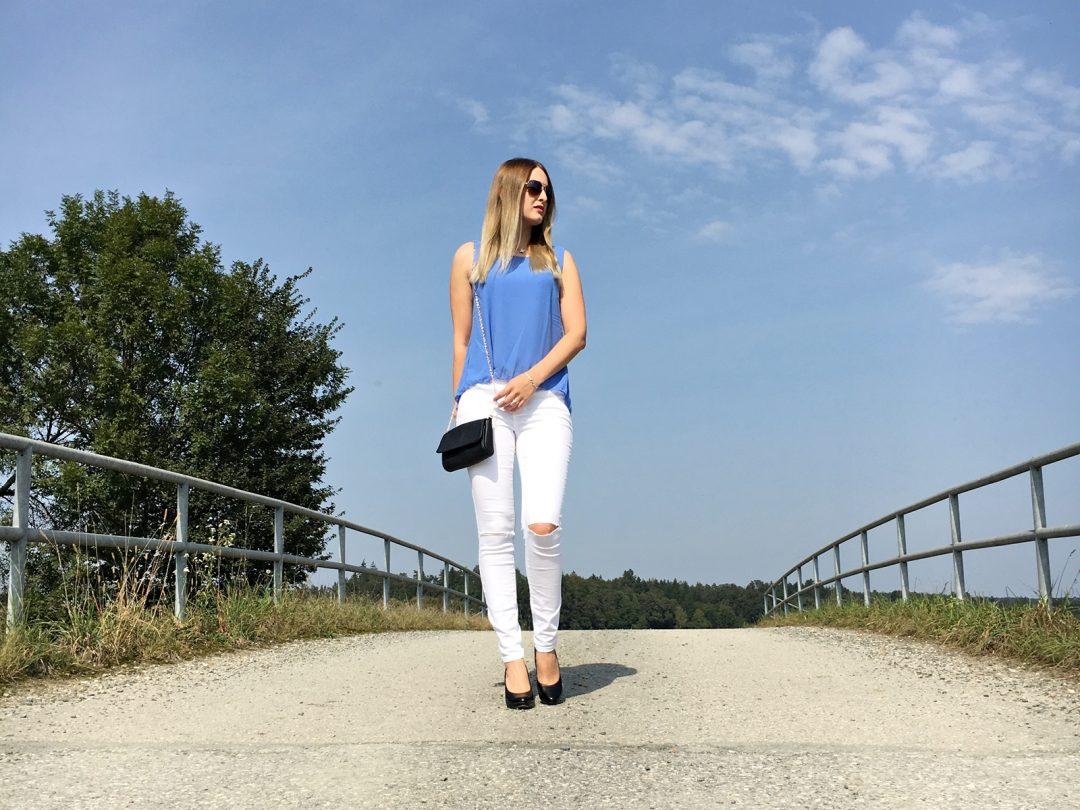 Outfit Knee Cut Jeans - Fashion - Fashionladyloves - Modeblog - Fashionblog