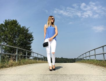 Outfit Knee Cut Jeans - Fashion - Fashionladyloves - Modeblog - Fashionblog