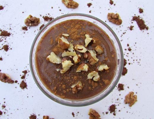 Veganes Bananen Schokolade Dessert - Fashionladyloves - Foodblog