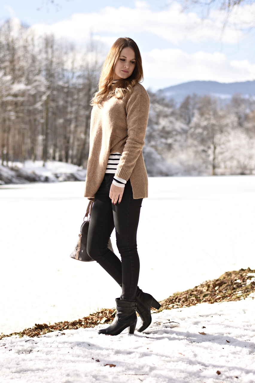 Stripes Outfit - so kombinierst du Streifenshirts - Winteroutfit - Fashionladyloves
