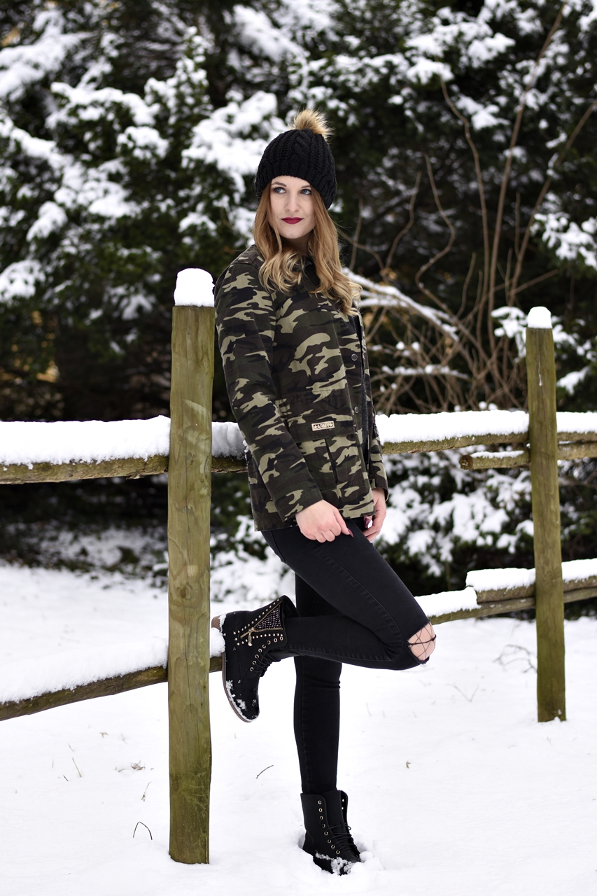 Camouflage Jacket Look - Fashionladyloves