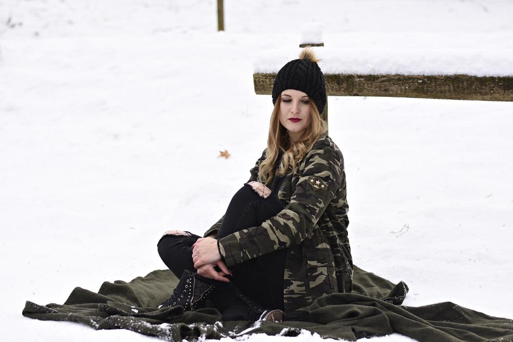 Camouflage Jacket Look - Fashionladyloves