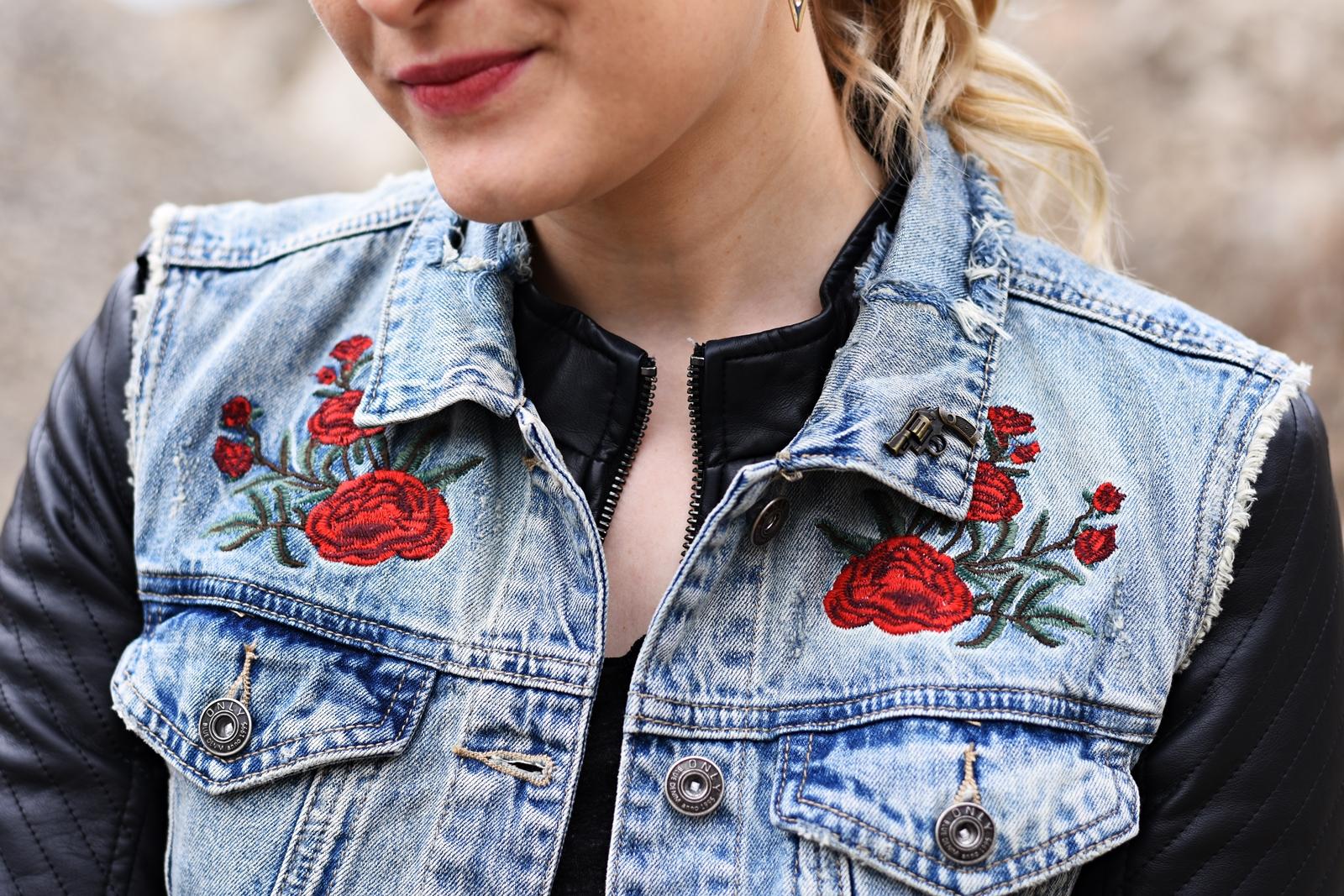 Fashion Challenge - Denim Stickerei - Fashionladyloves