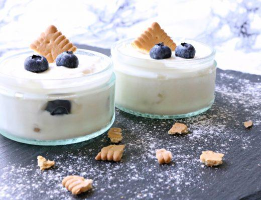 Cheesecake im Glas - schnelles Rezept - Blaubeeren Leibnitzkekse Topfencreme - leckeres Dessert - Fashionladyloves by Tamara Wagner