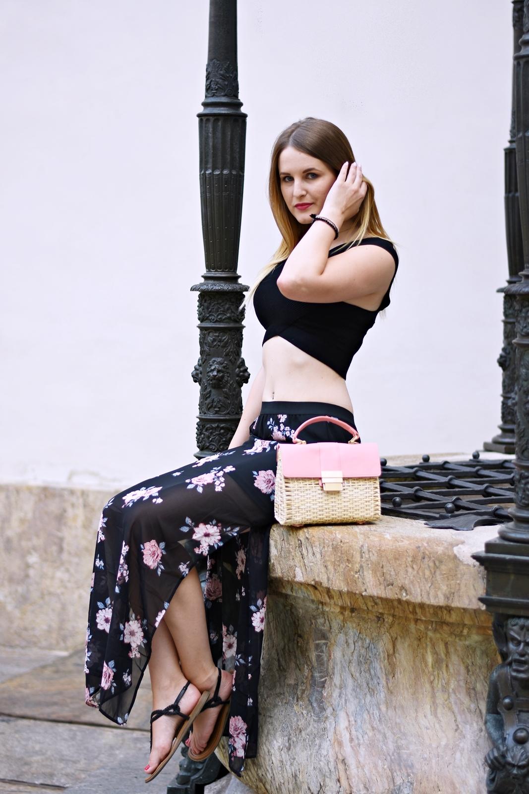 Der Maxirock - Blogparade - Outfit - Fashion - Summer Look - Style - Mode - Crop Top - Korbtasche - Fashionladyloves by Tamara Wagner - Fashionblog - Mode Blog