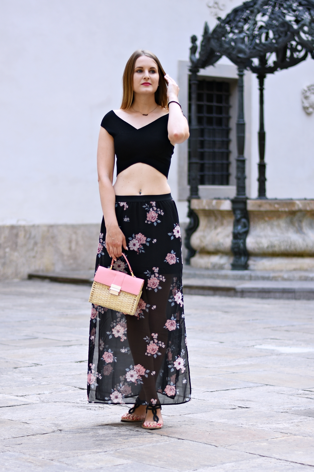 Der Maxirock - Blogparade - Outfit - Fashion - Summer Look - Style - Mode - Crop Top - Korbtasche - Fashionladyloves by Tamara Wagner - Fashionblog - Mode Blog