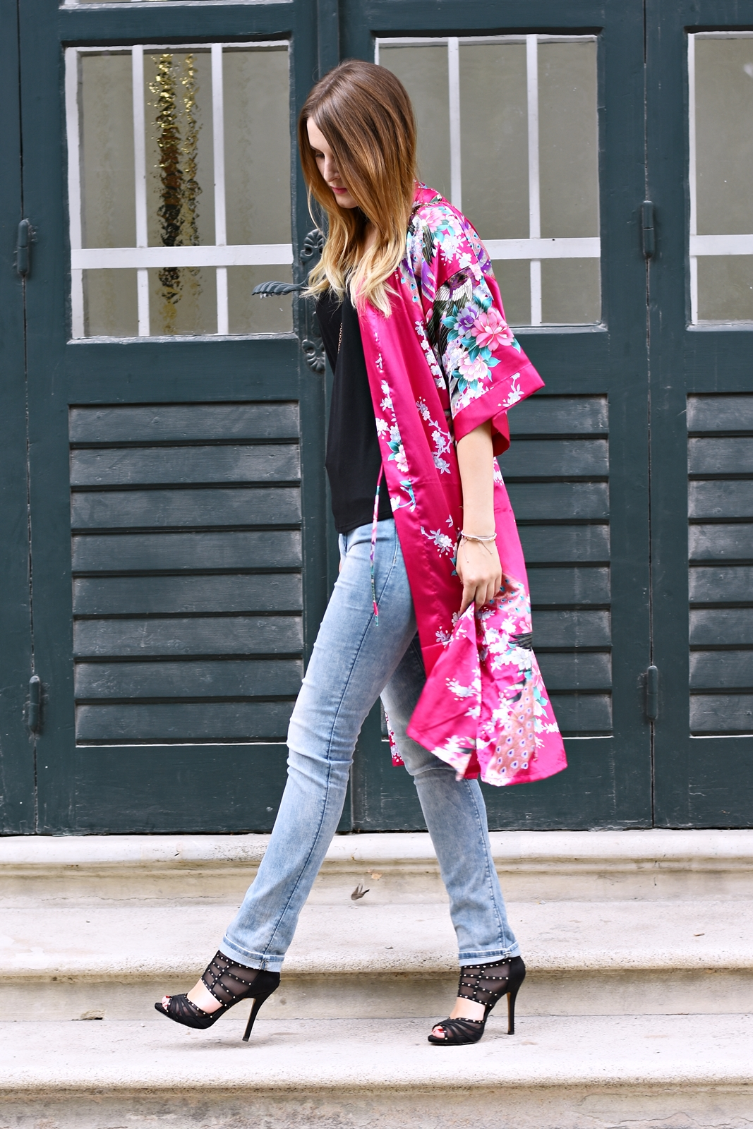 Der Kimono Trend - Summer Colors - sommerliche Farben - Streetstyle - Mode - Fashion - High Heels - Fashionladyloves by Tamara Wagner - Fashionblog