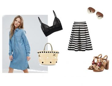 Modetrends Sommer Saison - Must-haves - Brandshirt - Korbtasche - Streifen - Gingham - Hemdkleid - Jeansrock - Blumenprint - Taillengürtel - Fashionladyloves by Tamara Wagner