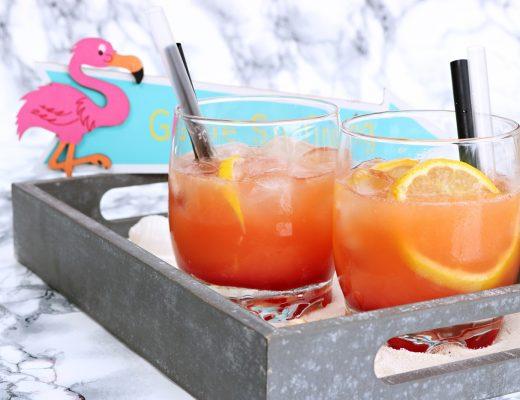 Flamingo Cocktail alkoholfrei - erfrischender exotischer Cocktail auch für Kinder geeignet - Fashionladyloves by Tamara Wagner - Foodblog