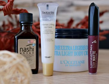 Beauty Favoriten im Herbst - richtige Pflege für die kühle Jahreszeit - Nashi Argan Haarpflege Serie - L'Occitane Ultra Light Body Cream - Botarin Intense Lifting Lip Care - Manhattan Stay Matte Liquid Lip Colour Erfahrungen - Erfahrungsbericht - Lieblingsprodukte - Fashionladyloves by Tamara Wagner - Beauty Blog aus Graz Österreich - Style Blog