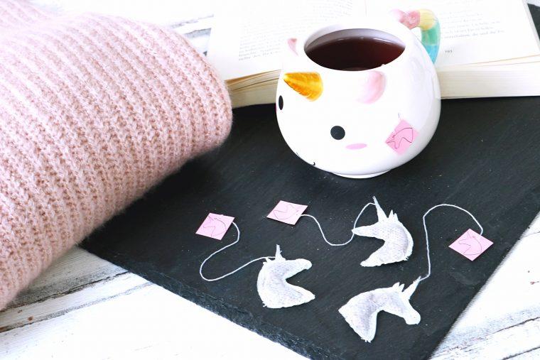 DIY Einhorn Teebeutel selber machen - Einhorn Tee - DIY Idee für Einhorn Fans - Geschenkidee für die Freundin - Einhorn Trend - Einhorn DIY - do it yourself unicorn tea - schnell und einfach basteln - DIY Idee - DIY Trend - Fashionladyloves by Tamara Wagner - DIY Blog