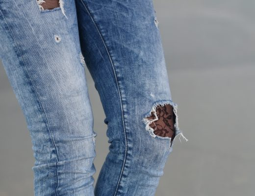 Ripped Jeans - Lace Tights - Fashionladyloves