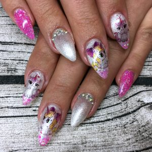 Nail Art Inspiration Pinke Nagel Unicorn Nails Einhorn Nagel