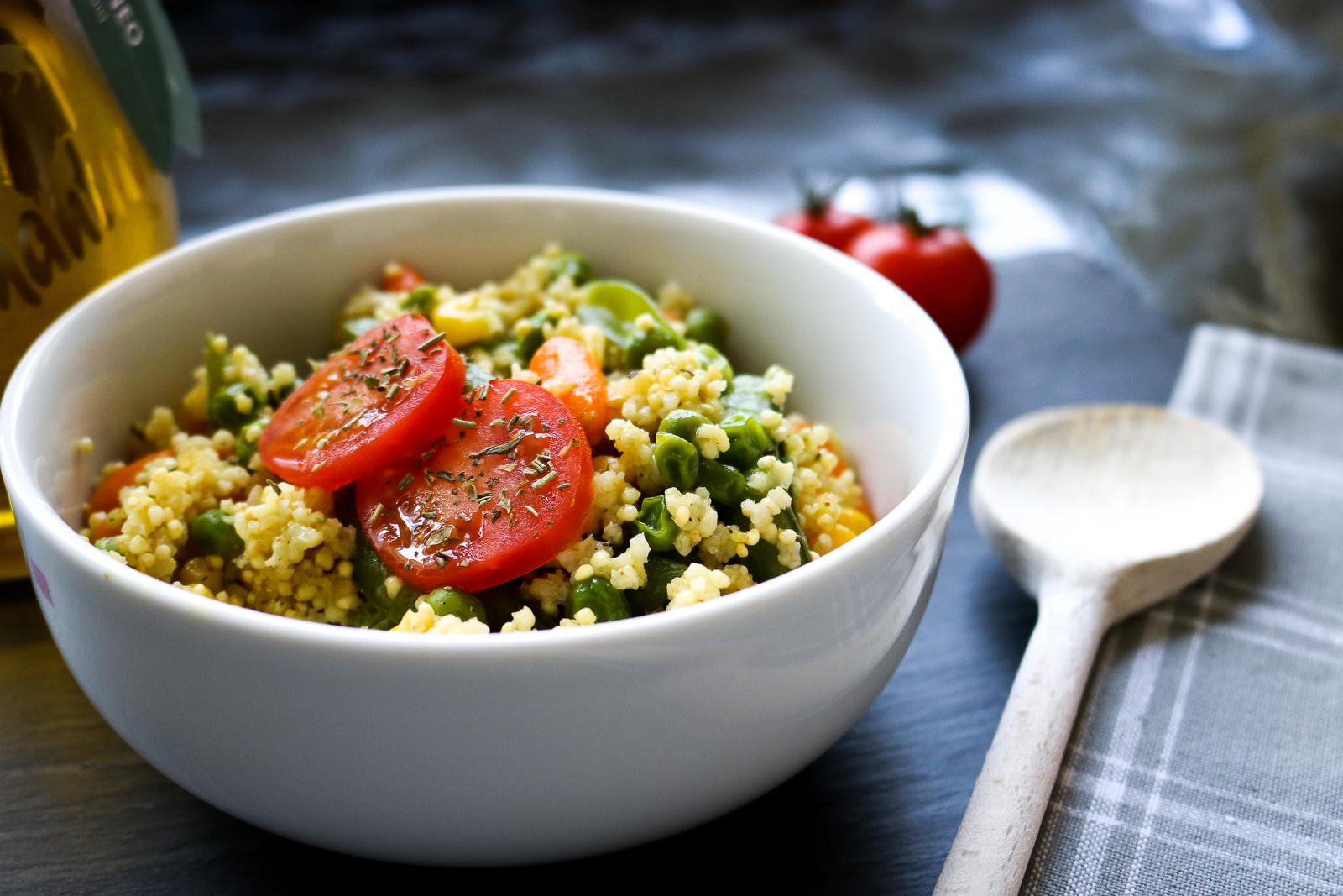 Schnelle Hirse-Gemüse-Pfanne - schnelles Rezept für die ...